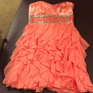 Strapless Formal Dress- Great for Weddings!